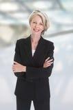 Portrait de femme d'affaires enthousiaste photos libres de droits