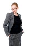 Portrait de femme de bureau en verres. photos libres de droits