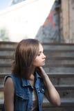 Portrait de femme de mode de rue d'été Photos stock
