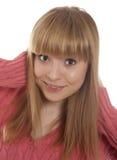 Portrait de femme de sourire Image libre de droits