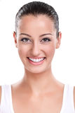 Portrait de femme de sourire attirante Photos stock