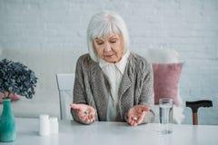 portrait de femme grise de cheveux image libre de droits