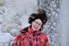 Portrait de femme heureuse et drôle Images libres de droits
