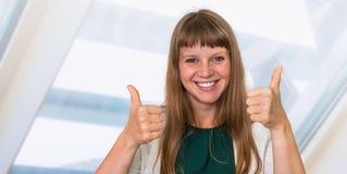 Portrait de femme réussie d'affaires dans le costume formel Images libres de droits