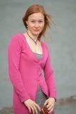 Portrait de femme rousse Photo stock