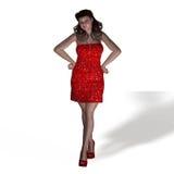 Portrait de femme sinueuse Photographie stock libre de droits