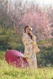 Portrait de femme traditionnelle asiatique Photos stock