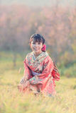 Portrait de femme traditionnelle japonaise Images libres de droits