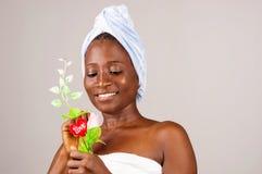 Portrait de fille africaine heureuse photos libres de droits