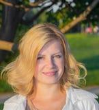 Portrait de fille blonde Image libre de droits