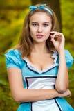 Portrait de fille châtain Images libres de droits