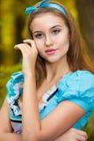 Portrait de fille châtain Photos libres de droits