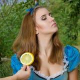 Portrait de fille châtain Photo stock