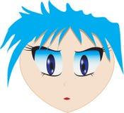 Portrait de fille dans le style d'anime illustration libre de droits