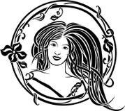 Portrait de fille dans le style d'Art Nouveau Photos stock