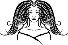 Portrait de fille dans le style d'Art Nouveau Photographie stock libre de droits