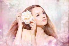 Portrait de fille de beauté Photographie stock libre de droits