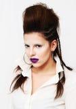 Portrait de fille de beauté Coiffure de mode images libres de droits