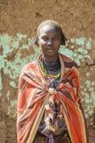 Portrait de fille de Dassanech Omorato, Ethiopie Photo libre de droits