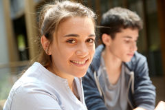 Portrait de fille de lycée Images libres de droits