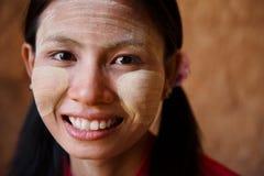 Portrait de fille de Myanmar Photo stock