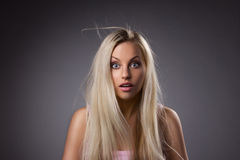Portrait de fille étonnante Images stock