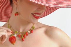 Portrait de fraise Image stock
