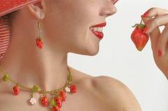 Portrait de fraise Photographie stock libre de droits