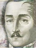 Portrait de Francisco de Paula Santander Images libres de droits