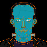 Portrait de Frankenstein Image stock