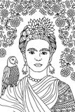 Portrait de Frida Kahlo Photos libres de droits