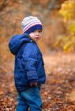 Portrait de garçon d'enfant en bas âge extérieur image libre de droits