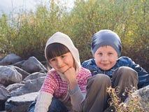 Portrait de garçon et de fille Photos libres de droits