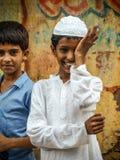 Portrait de garçon musulman de sourire Image prise chez Amroha, uttar pradesh, Inde photos libres de droits