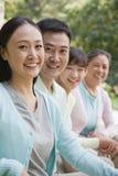 Portrait de generations multi de famille, dehors Pékin Photo libre de droits