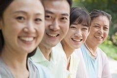 Portrait de generations multi de famille, dehors Pékin Photos stock