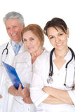 Portrait de gentils trois médecins Image stock