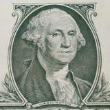 Portrait de George Washington sur le billet d'un dollar 1 Photographie stock libre de droits