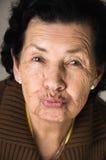 Portrait de grand-mère douce envoyant un baiser Images libres de droits