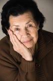 Portrait de grand-mère heureuse affectueuse douce Photographie stock libre de droits