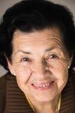 Portrait de grand-mère heureuse affectueuse douce Image libre de droits