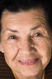 Portrait de grand-mère heureuse affectueuse douce Images libres de droits