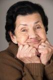 Portrait de grand-mère heureuse affectueuse douce Photo libre de droits