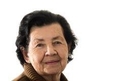 Portrait de grand-mère heureuse affectueuse douce Photos stock