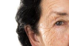 Portrait de grand-mère regardant nostalgique Photographie stock libre de droits