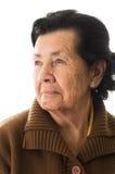 Portrait de grand-mère semblant nostalgique Photographie stock