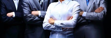 Portrait de groupe d'une équipe professionnelle d'affaires Images stock