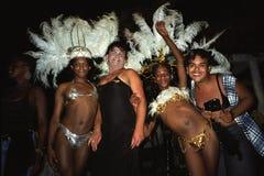 Portrait de groupe des travestis, carnaval Brésil Photographie stock