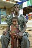 Portrait de groupe de père et de fille ghanéens image libre de droits