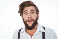 Portrait de hippie étonné Image libre de droits